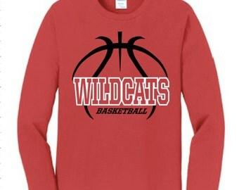 Wildcats Basketball Shirt ~ Custom team basketball shirt