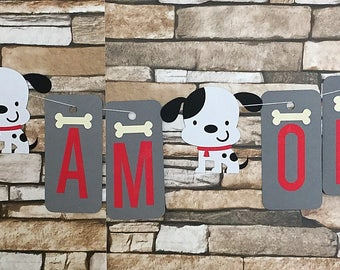 Dalmatian Party Banner, Dog Party Banner, Dalmatian Birthday Banner, Dog Banner,