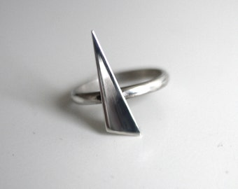 Sterling Silver Spike Ring