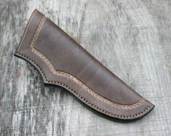 "Bushcraft Leather Knife Sheath / Leather Sheath For 5"" Blades / Fits Mora Knives And More! / Leather Bushcraft Knife / Bushcraft Gear"