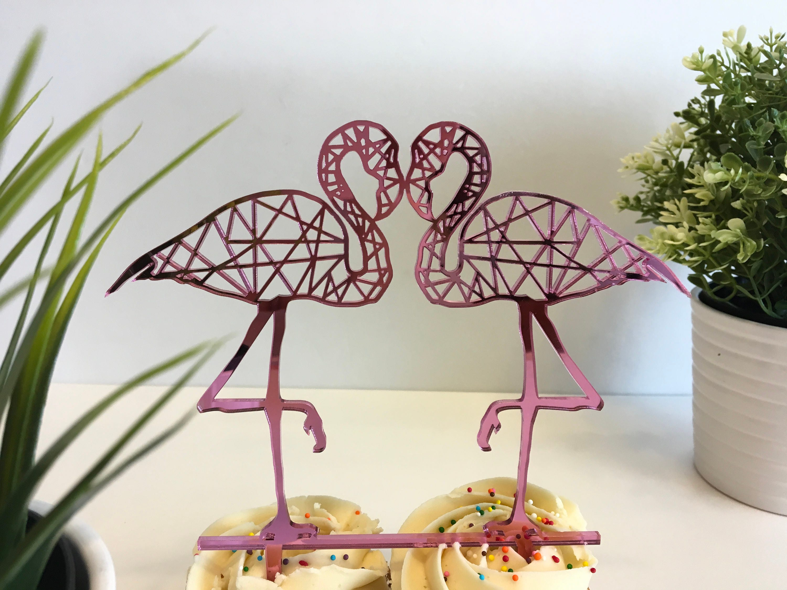 tropical wedding cake toppers flamingo cake topper hawaiian tropical wedding 21280