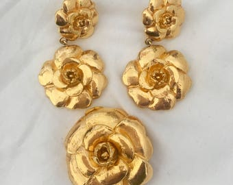 Vintage Chanel Earrings with Broch