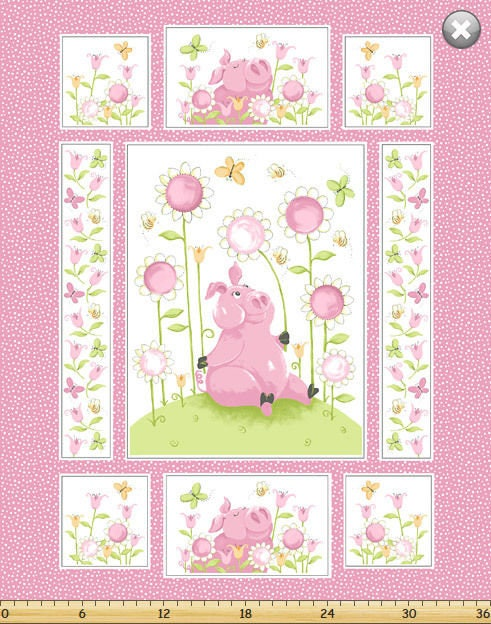 Susybee S Flip The Pig Flowers Quilt Top 100 Cotton 43