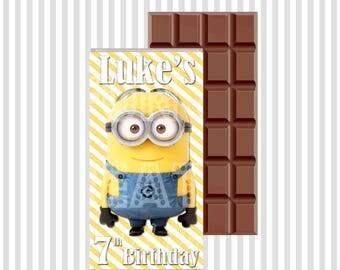 Mega Minion Chocolate Wrapper