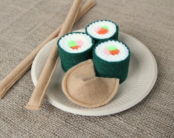Pretend Play Felt Sushi/Fortune Cookie/Chop Sticks