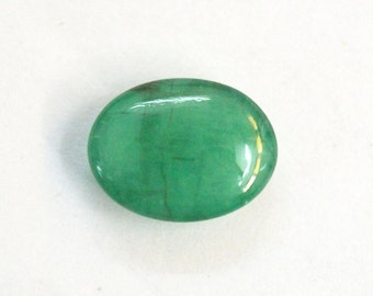 1.62 cts. 100% Natural Green Emerald  7X9 mm approx. cabochon for jewelery