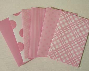 Pink gift card envelope/ Mini envelope
