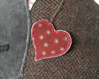 Love heart brooch add-on for your cushion