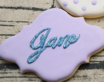 Sugar Cookie - Custom Name Cookies one dozen