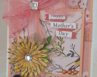 Unique handcrafted mother's day card