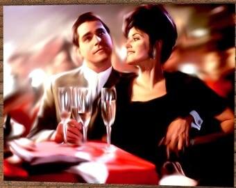 Goodfellas Painting Poster Print - Goodfellas Illustration - Ray Liotta Illustration - Ray Liotta Poster - Martin Scorsese Film Art