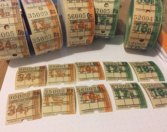 30 bus roll tickets ( individual pieces)