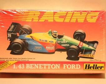 Vintage Heller Benetton Ford Plastic Model Kit