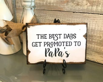 Lost Wedding Gift List : father s day gift dads promoted to papas gift father s day plaque ...