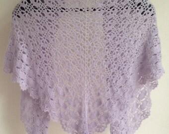 Stunning crochet shawl, wrap. Merino wool, angora.