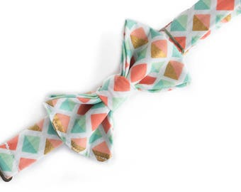 Bow Ties for Boys - Baby Bow Ties - Boys Bow Tie - Coral Bow Tie for Baby -  Kids Bow Ties - Toddler Bow Tie - Pre-Tied Bow Ties - Bowtie