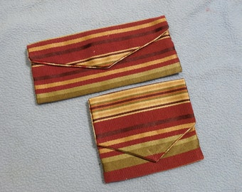 Handmade Coin/Card Purse and Glasses Case Pouch~ Handsewn from Vintage Fabrics