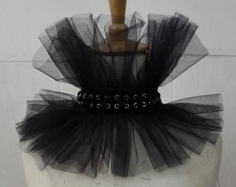 Amazing gothic and punk tulle collar choker corset # CW17001