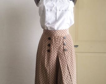Vintage polka dot trousers skirt