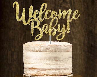 Welcome baby cake topper, babyshower cake topper