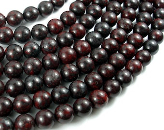 Brecciated Jasper Beads, 10 mm Round Beads, 1.55 Inch, Full strand, Approx 39 beads, Hole 1 mm (334054004)