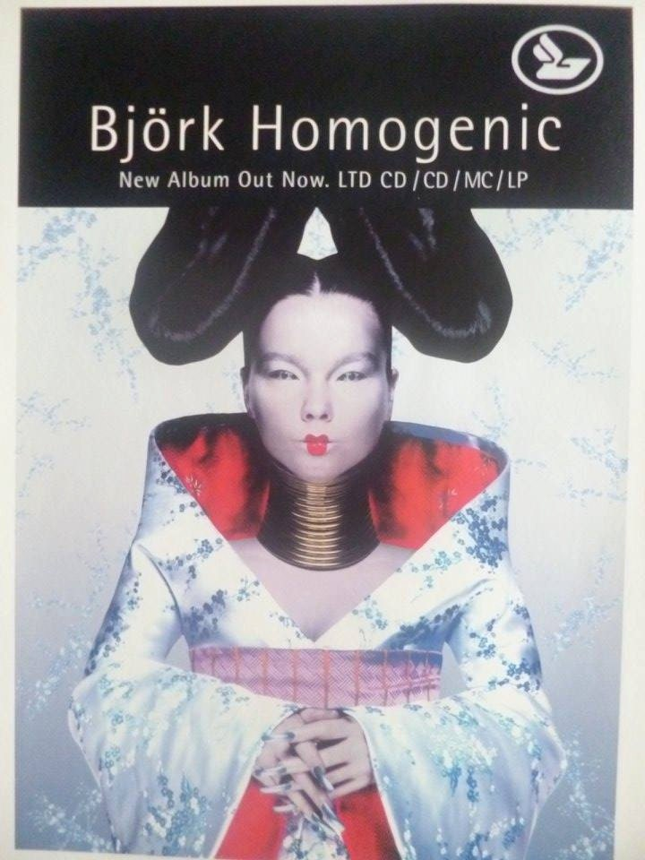 Björk homogen montiert Plakat Presse