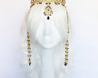 AMIRA Headpiece, headchain, crown, tiara, tribal