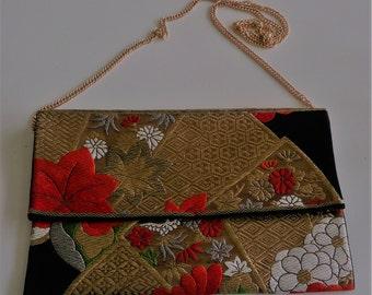 003 HAND MADE Japanese Vintage Kimono Obi Bag