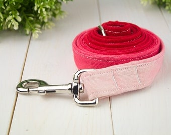 Red Ombre Canvas Leash