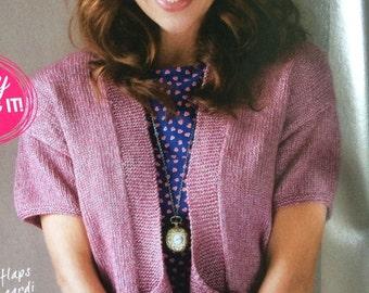 Flirty Double Button Cardigan Knitting Pattern