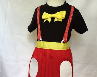 Mickey Mouse-inspired Comfy T-Shirt Dress, sizes 4 and 5 (ages 4-5, 5-6)