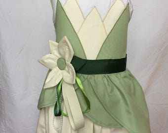Tiana from the Princess and the Frog-inspired Tank Top Dress, size 4 and size 5