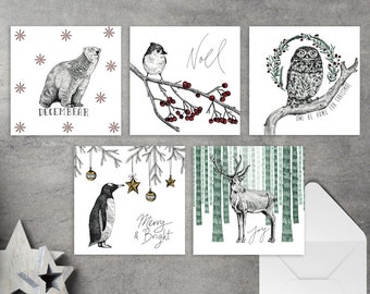 Christmas Card Illustration - 5 pack