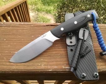 Custom ST-4 fixed blade survival knife with sheath