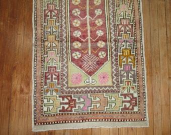 Vintage Turkish Oushak Anatolian Rug Size 2'6''x4'8''