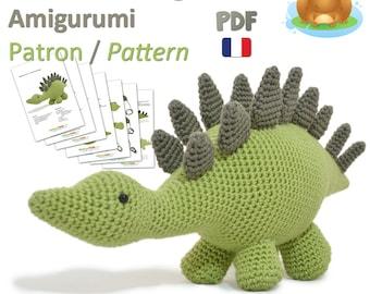 Dinosaure Stégosaure - Stegosaurus - Amigurumi Crochet  Patron - PDF Français