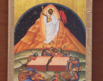 The Resurrection Of Christ.Christian orthodox icon.FREE SHIPPING.