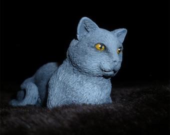 Little Gray Cat Figurine