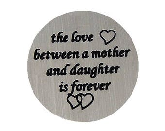 Love between Mother and Daugther Floating Back Plate fits 30mm Floating Lockets