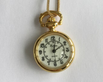 Vintage Eclipse watch pendant necklace