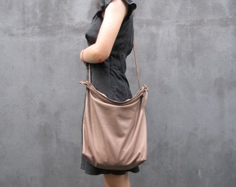 Slouchy leather cross body bag / Leather clutch bag / Brown leather crossbody bag / Leather purse / Tan leather bag /