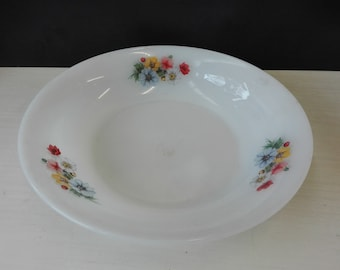 Arcopal flowers, fruit bowl