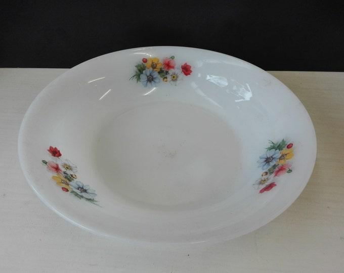 Arcopal flowers, fruit bowl