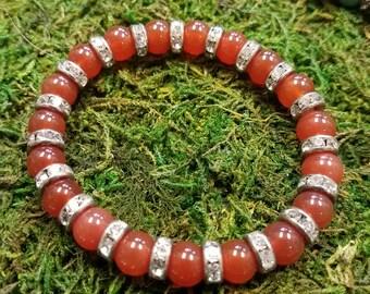 Carnelian Sparkle Bracelet
