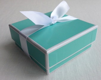 Turquoise and White Gift Box