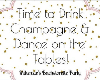 Bachelorette Party Wine Label *Free Shipping*