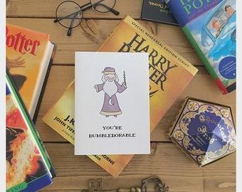 Dumbledore • Dumbledore card • Harry Potter • Harry Potter card • Harry Potter love card • Harry Potter Valentine's Day card • pun card •