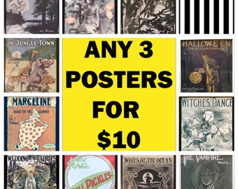 Birthday gift for teen girl sale Clearance sale item home & living Buy One get one free poster for dorm Halloween vintage halloween decor
