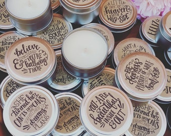 Rustic Inspired Affirmation Candles / Soy Candles / Handpoured in Mudgee NSW / Gifts / Home Decor / Positive Vibes
