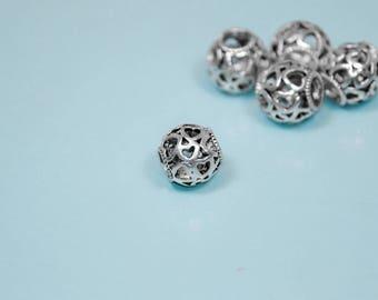 5PK BULK | Full of Love -- Heart Bead for Pandora Charm Bracelets